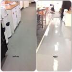 Stripping and Sealing Vinyl Floor